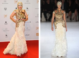 The Bambi Awards 2011: Lady Gaga in Alexander McQueen