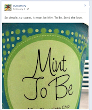 Getting Started with Facebook image mint to be eCreamery 270px