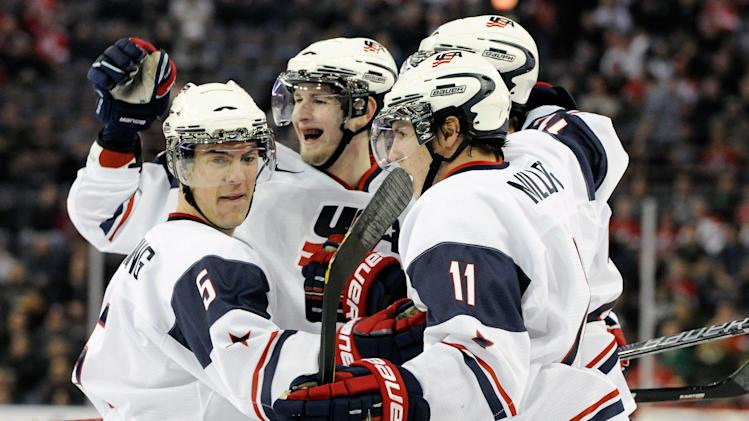 2012 World Junior Hockey Championships - United States v Denmark