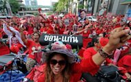 "Up to 50,000 ""Red Shirt"" supporters from across Thailand converged on central Bangkok to mark the second anniversary of a deadly crackdown on street protests, city police say"