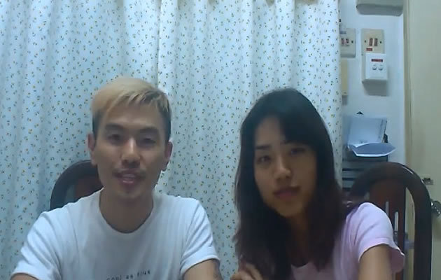 Alvin Tan and his girlfriend Vivian Lee, both aged 23, have been the talk of the town on both sides of the Causeway since their sex blog went viral. (Youtube video screengrab)