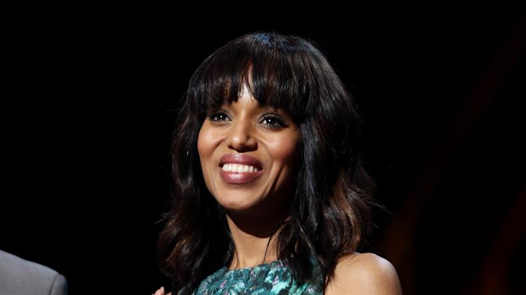 Actress Kerry Washington attends rehearsals for the 85th Academy Awards in Los Angeles, Saturday, Feb. 23, 2013. The Academy Awards are scheduled for Sunday, Feb. 24, 2013. (Photo by Matt Sayles/Invision/AP)