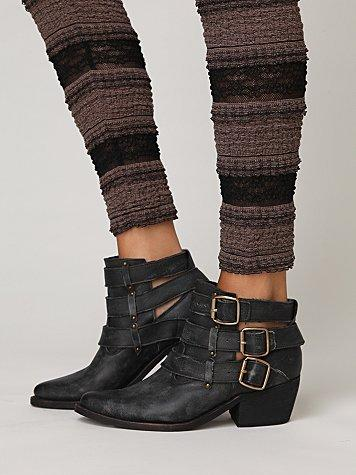 Buckle-back Ankle Boot