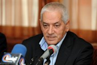 Secretary General of the Tunisian General Labour Union (UGTT) Houcine Abbassi attends a press conference on December 5, 2012 in Tunis. The UGTT lashed out on Saturday at the Islamist-led government for failing to crack down on a militia for attacking their headquarters in December.