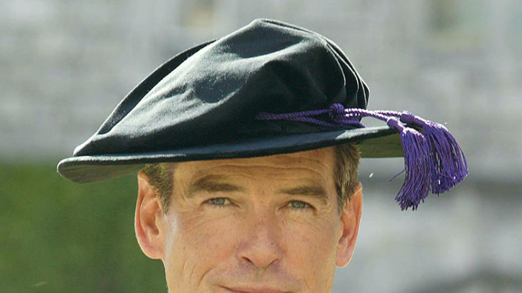 Pierce Brosnan  receives an Honorary Doctorate in Law at University College in Cork in Ireland