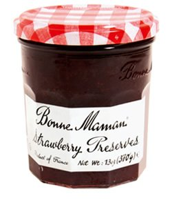 Bonne Maman and Trader Joe's have big fruit flavor and big strawberry pieces.