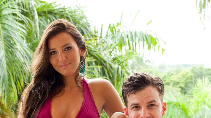 "Camila Nakagawa (""Challenge: Spring Break 2010"") and Johnny Devenanzio (""<a href=""/baselineshow/4723206"">Real World 17: Key West</a>"") compete in ""The Challenge: Battle of the Exes."""