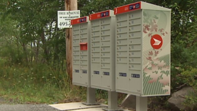 Canada Post community mailboxes. (CBC)