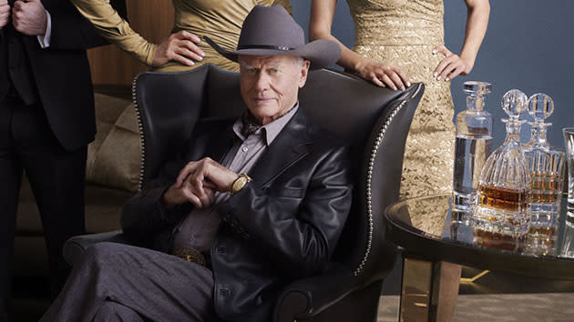 "Larry Hagman as J.R. Ewing in TNT's ""Dallas."""