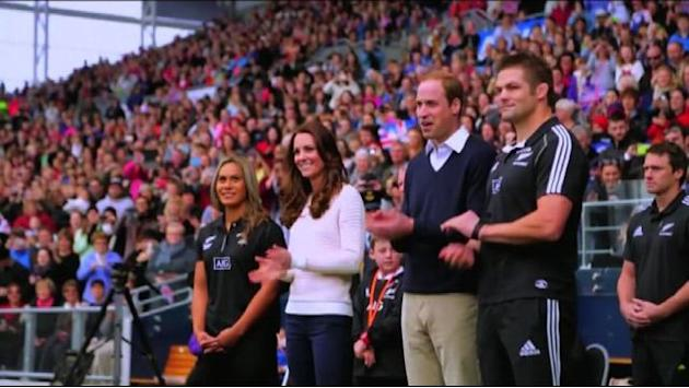 Passione sport per William e Kate, insieme alla partita di rugby