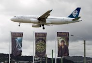 An Air New Zealand 737 comes in to land in Wellington on November 24, 2012. Shares in Air New Zealand rose more than five percent on Wednesday after the airline predicted its annual earnings will more than double in the 2012-2013 financial year