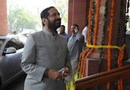 Suresh Kalmadi, India's former Olympics chief, arrives at parliament in New Delhi on March 12, 2012. He pleaded not guilty in court on Monday to an array of corruption charges related to his handling of the chaotic Delhi Commonwealth Games in 2010