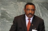File photo of Hailemariam Desalegn, who has taken the oath of office as new Ethiopian prime minister, after the death of long-time ruler Meles Zenawi