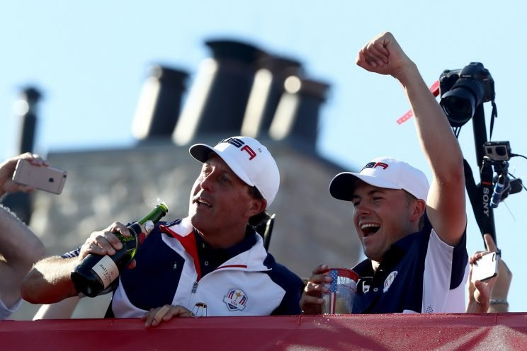 The U.S. did the job at Hazeltine National. (Getty Images)