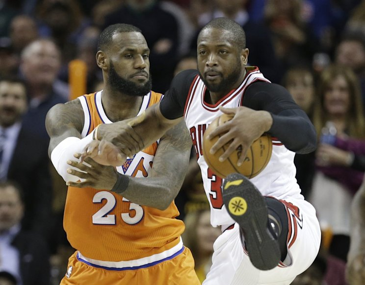 Is LeBron James holding out hope Dwyane Wade could join him in Cleveland? (AP)