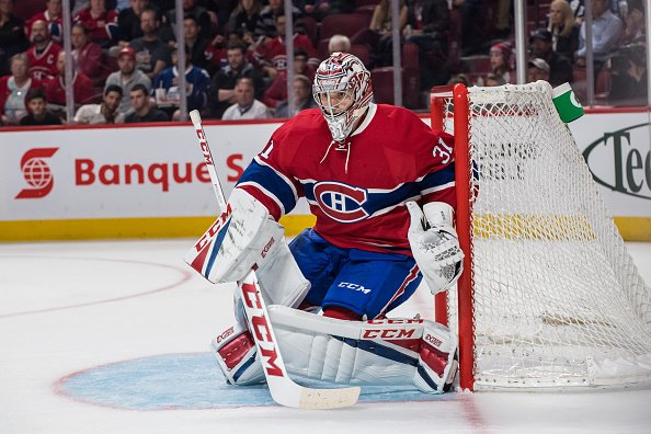 October 6, 2016: Montreal Canadiens goalie Carey Price (31) makes a save during the second period of a preseason NHL game between the Toronto Maple Leafs and the Montreal Canadiens at the Bell Centre in Montreal, QC (Photo by Vincent Ethier/Icon Sportswire via Getty Images)