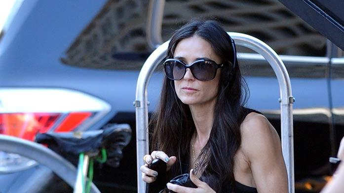 Demi Moore Movie Set