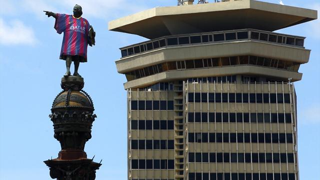 Liga - Pigeons wanted to deface Christopher Columbus's Barca shirt