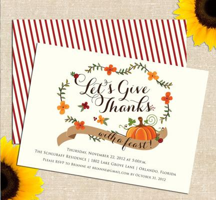 Carolina Thanksgiving Invitation