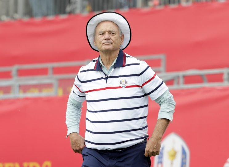 Bill Murray was flexing his golf muscles at the White House. (Getty Images)