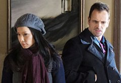Lucy Liu and Jonny Lee Miller | Photo Credits: John P. Filo/CBS