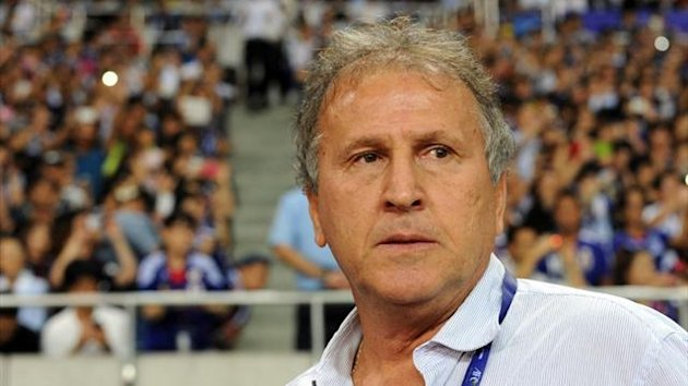 Iraq's head coach Zico during an Asian qualifier against Japan in Saitama (AFP)