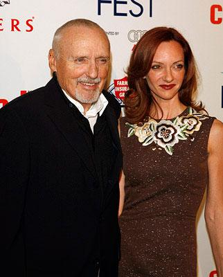 Dennis Hopper and guest at the Los Angeles AFI Fest screening of New Line Cinema's Love in the Time of Cholera