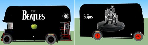Beatles Buses Headed for New York, L.A