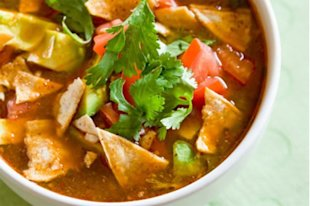 Tortilla and Avocado Soup