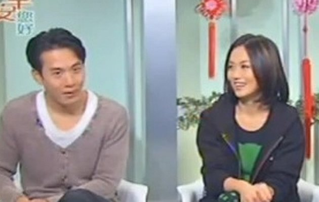 Joanne Peh and Qi Yuwu at a TV interview about their cop drama, CLIF 2 (Youtube screengrab)