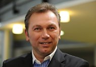 Johan Bruyneel, the former team manager of seven-time Tour de France champion Lance Armstrong, pictured in February 2012, denied on Friday the allegations that he helped the American cyclist in a doping conspiracy