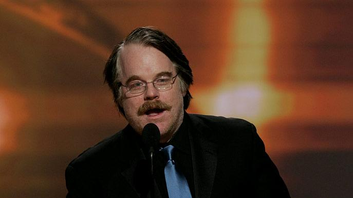 Philip Seymour Hoffman at the 64th annual Golden Globe Awards.