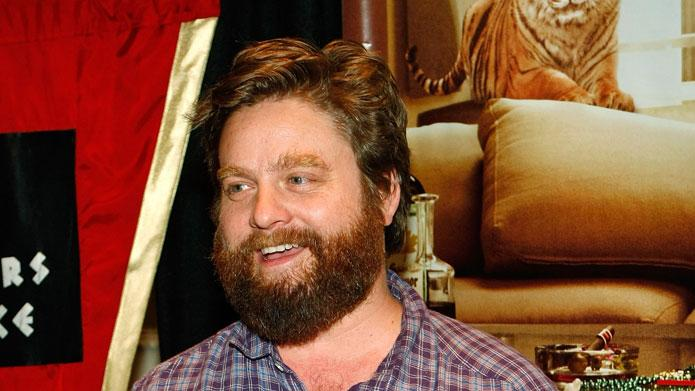 "Zach Galifianakis at a charity poker tournament at Caesars Palace hosted by Warner Bros. Pictures featuring cast members from the film ""The Hangover"" to benefit Opportunity Village May 15, 2009 in Las Vegas, Nevada."