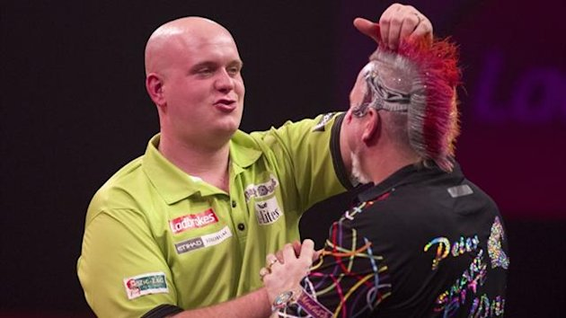 The Netherlands' Michael van Gerwen after defeating Britain's Peter Wright in the PDC World Championship darts final at Alexandra Palace in London (AFP)