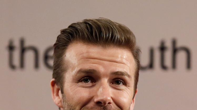 David Beckham Meets The Media