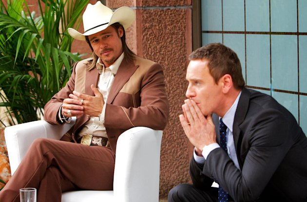 Brad Pitt and Michael Fassbender in 'The Counselor'