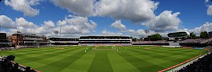 A panoramic view of Lord's on Friday