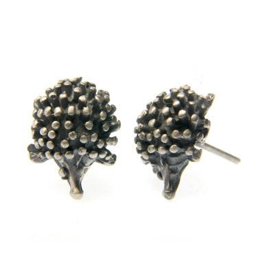 Hedgehog Earrings, $132