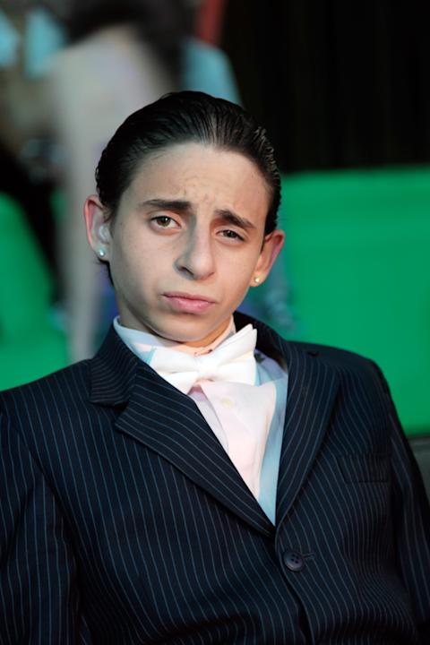 Moises Arias on the set of