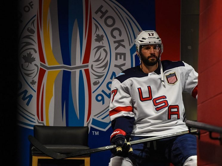 TORONTO, ON - SEPTEMBER 22: Ryan Kesler #17 of Team USA waits in the player tunnel during the World Cup of Hockey 2016 against Team Czech Republic at Air Canada Centre on September 22, 2016 in Toronto, Ontario, Canada. (Photo by Minas Panagiotakis/World Cup of Hockey via Getty Images)