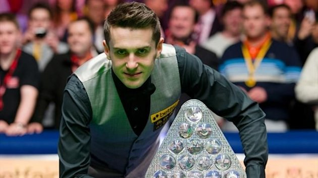 Mark Selby after winning the Masters (AFP)