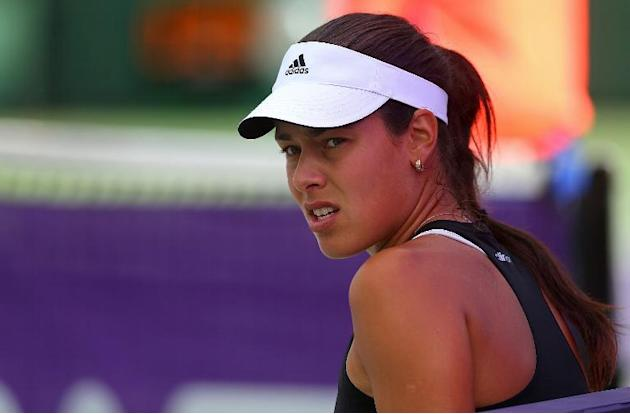 Ana Ivanovic of Serbia, seen during the Sony Open at the Crandon Park Tennis Center in Key Biscayne, Florida, on March 24, 2014