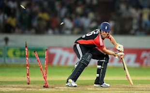England were clueless against Indian spin on a slow, low pitch.