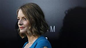 "Jodie Foster poses at the world premiere of ""Elysium"" in Los Angeles"