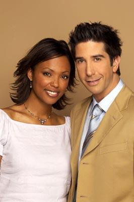 Aisha Tyler and David Schwimmer in NBC's Friends