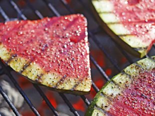 Grilled watermelon.