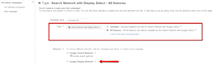 How to Choose a PPC Advertising Network in AdWords & Bing image adwords search network with display select