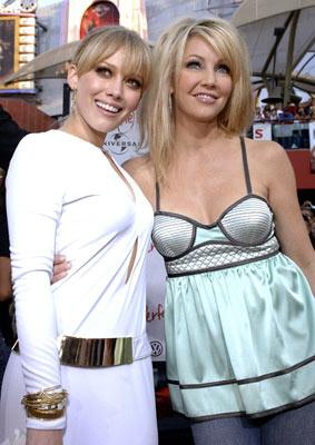 Premiere: Hilary Duff and Heather Locklear at the Universal City premiere of Universal Pictures' The Perfect Man - 6/13/2005