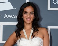 Nominee for Best World Music Album Anoushka Shankar arrives at the Staples Center for the 55th Grammy Awards in Los Angeles, California, February 10, 2013. Indian sitar player Ravi Shankar's daughter Anoushka accepted a Grammy on behalf of her late father Sunday -- in a category in which she had also been nominated