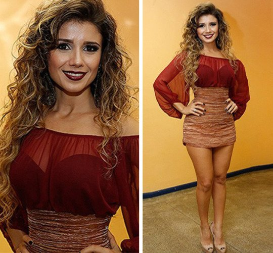 Com look sexy, Paula Fernandes rouba a cena na final do BBB 15